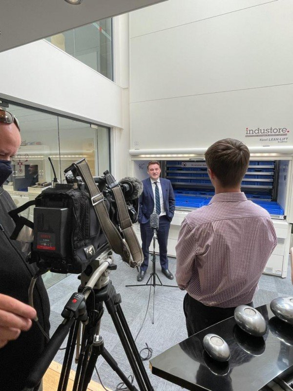 Managing Director, Ross Powell being interviewed by BBC news